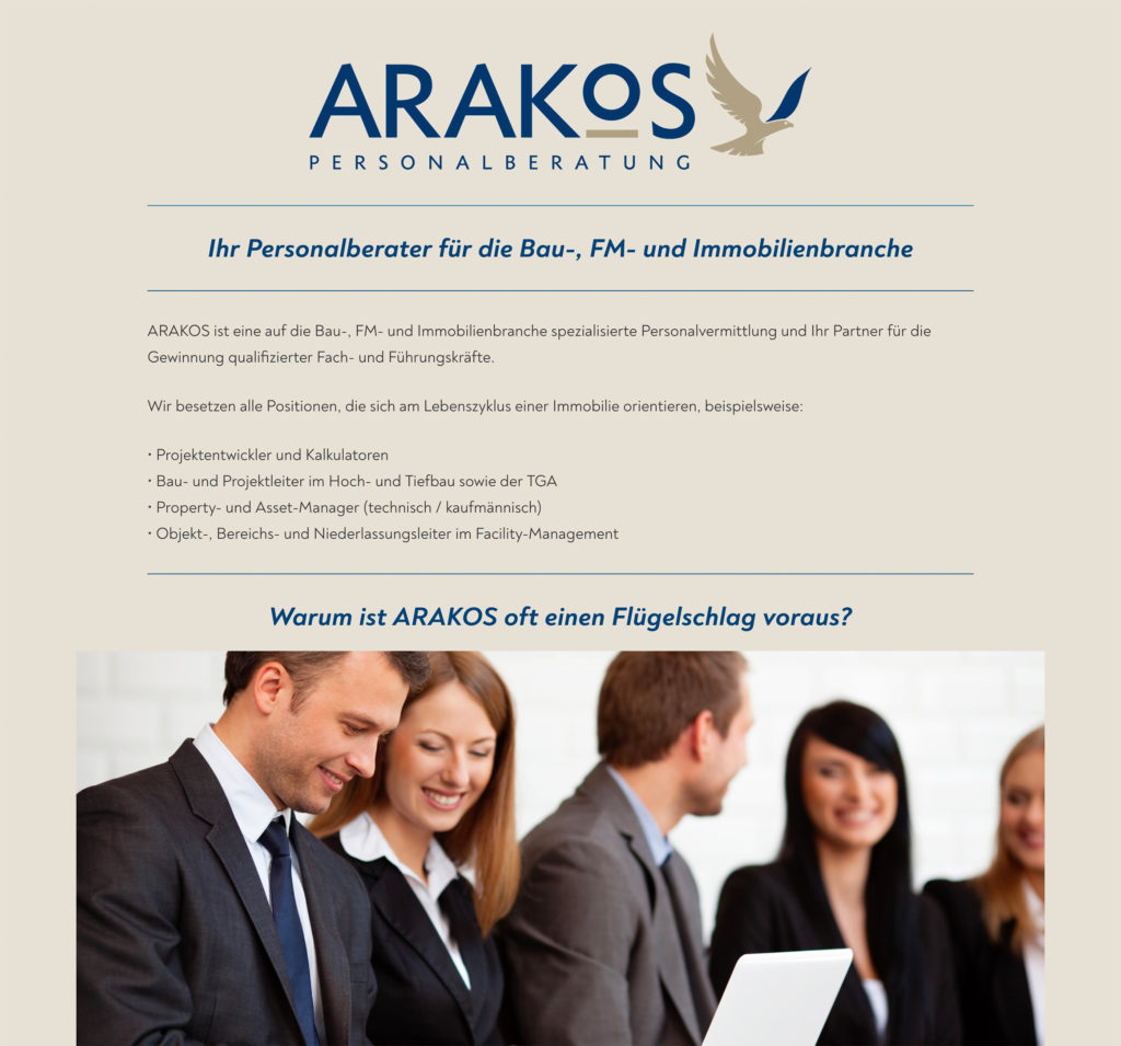 Arakos Website 2020