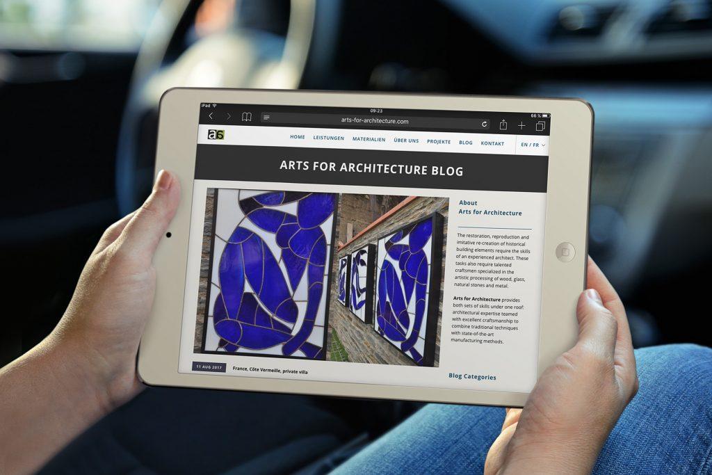 Webdesign für Arts for Architecture