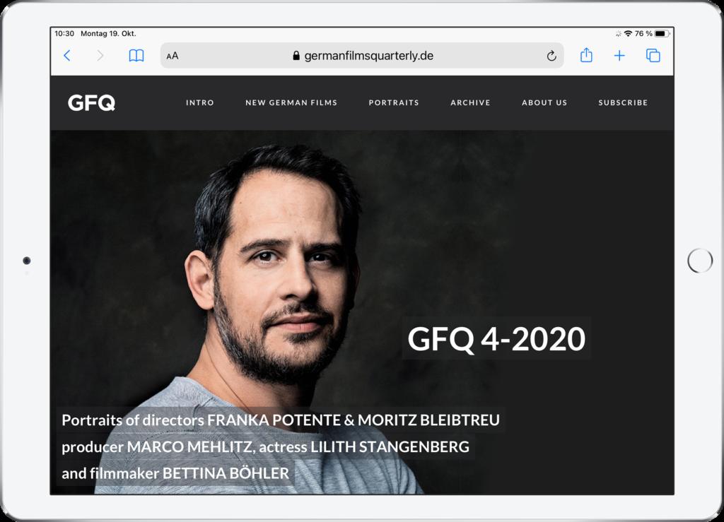 GFQ 4-2020 Website. Design: Werner Schauer