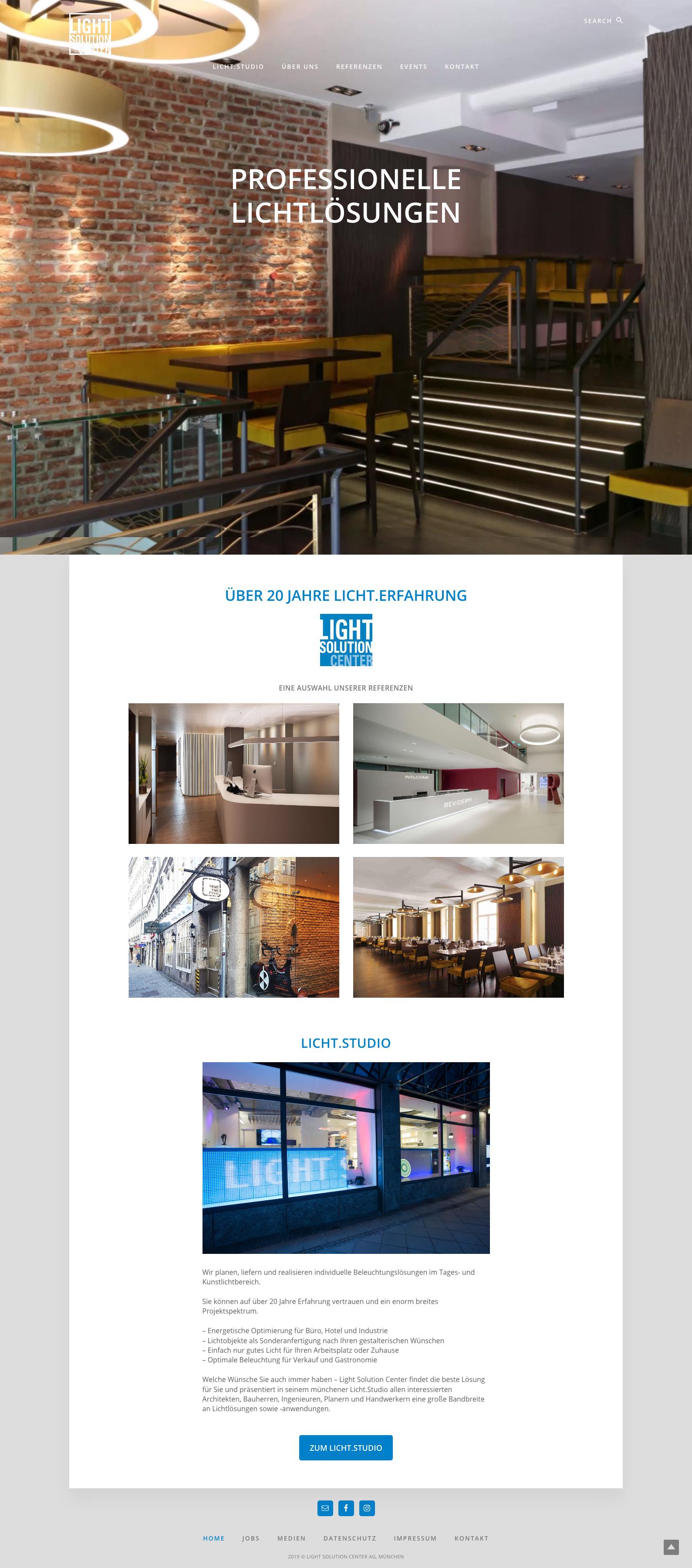 webdesign light solution center, designbyschauer