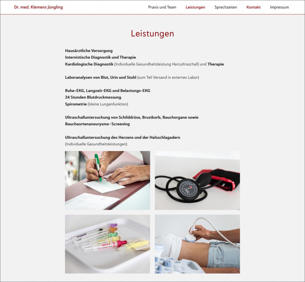 Webseite Dr. med. Klemens Jüngling