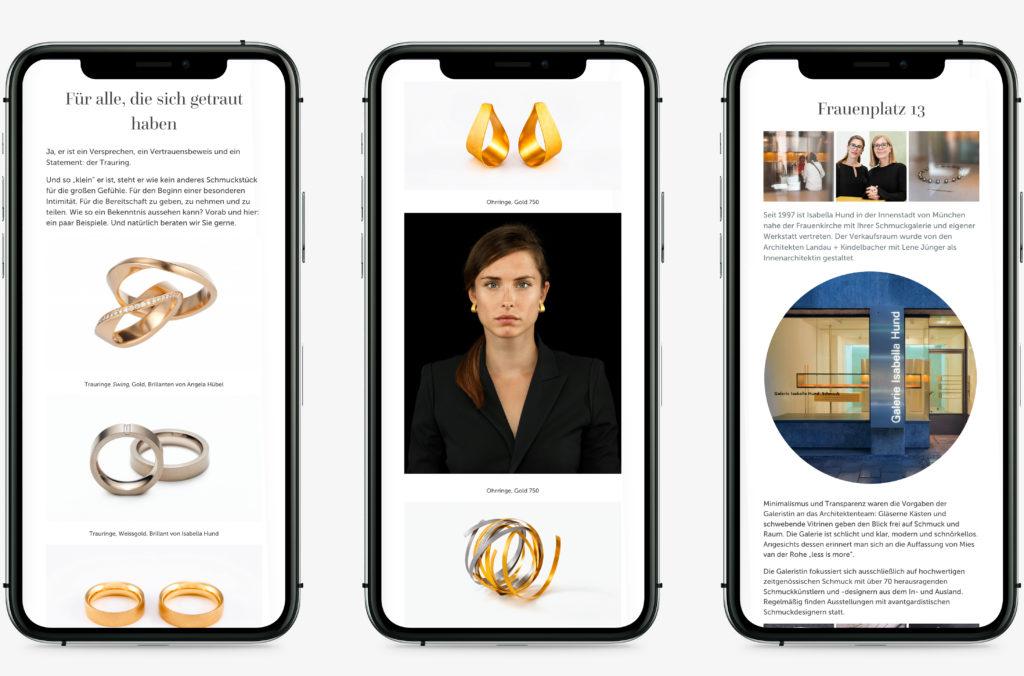 designbyschauer Website Isabella Hund Gallery