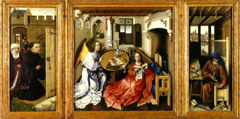 Mérode-Triptychon (um 1425–1435, heute New York, Metropolitan Museum of Art)