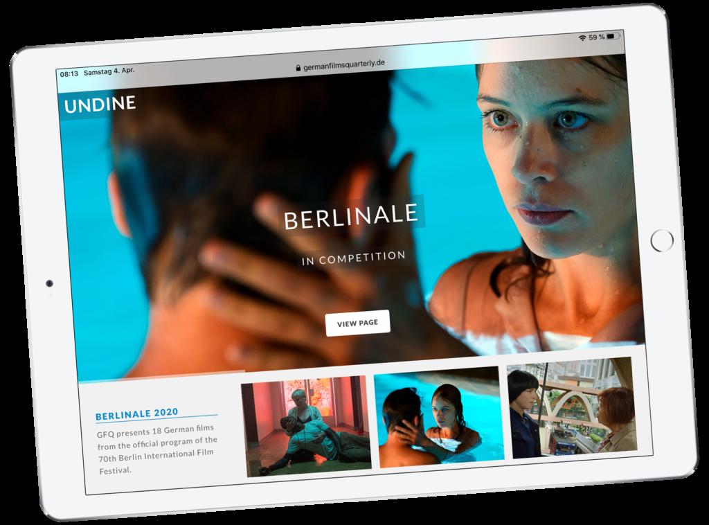 Werner Schauer Pullach: Website für GFQ German Films Quarterly