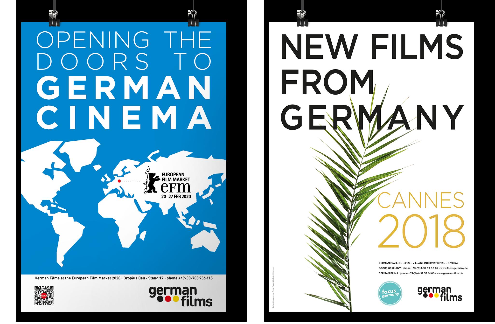 Poster Berlin und Cannes