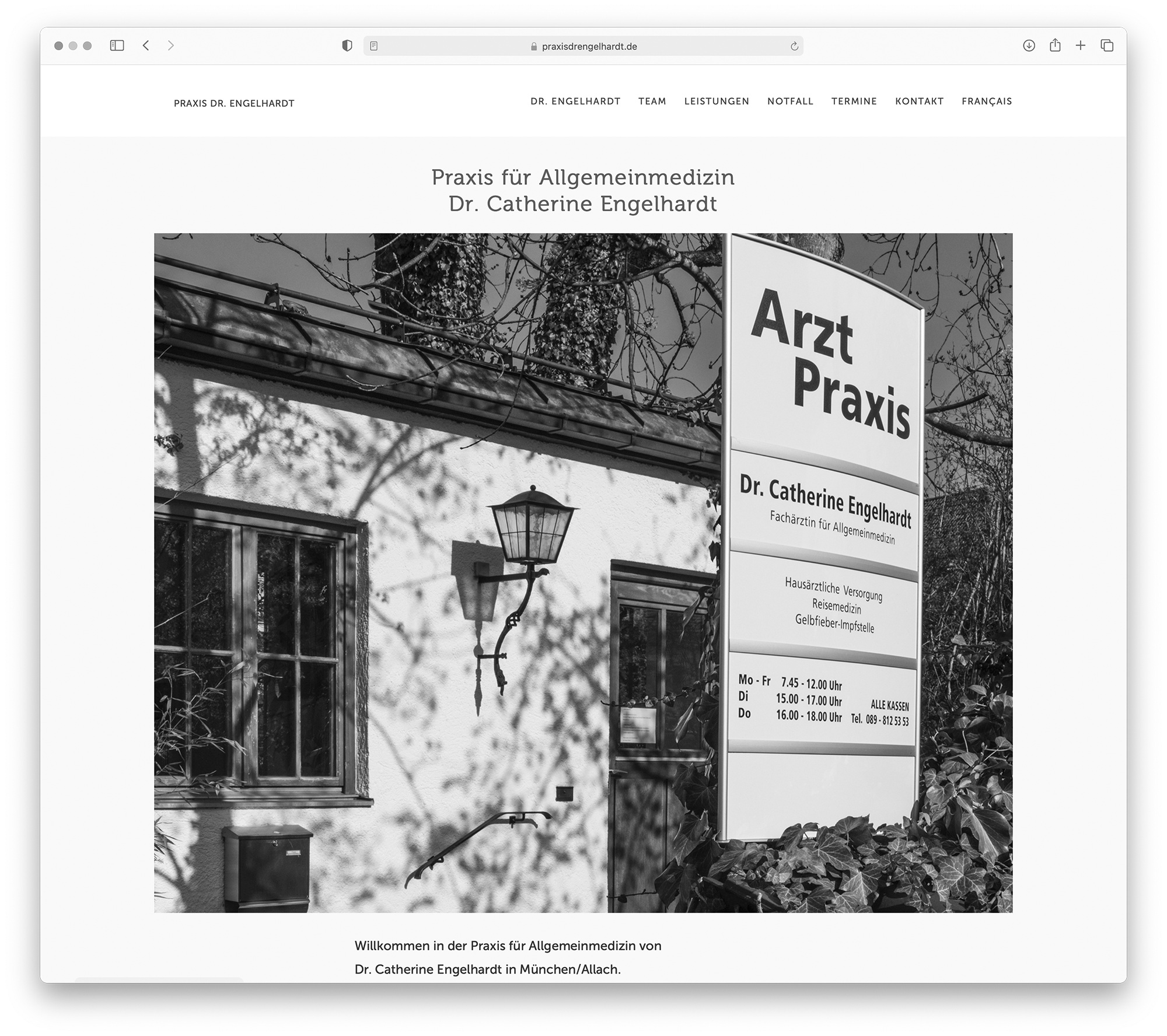 designbyschauer Website Praxis Dr. Engelhardt