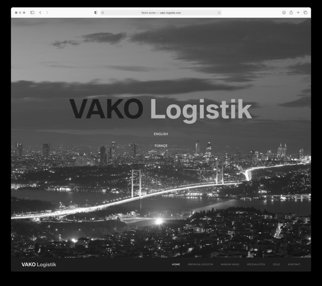 webdesign für Vako Logistik