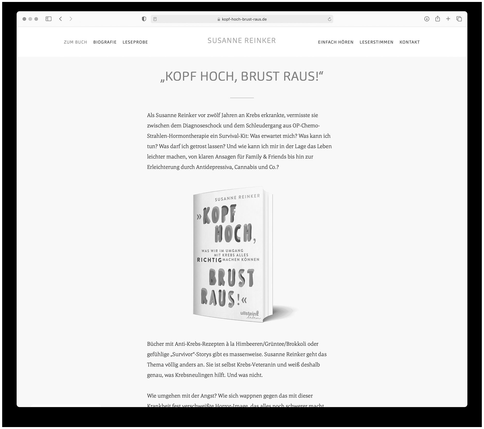 designbyschauer Website Susanne Reinker